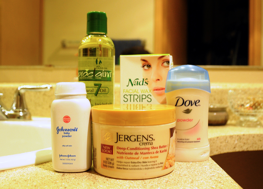 A handful of my favorite toiletries and beauty products.